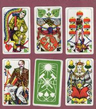 Collectible playing cards. Coal-mining playing cards deck 1985